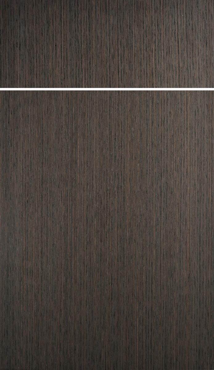 Dura Supreme's Metro Vertical Grain Door Style in Shale Exotic Veneer