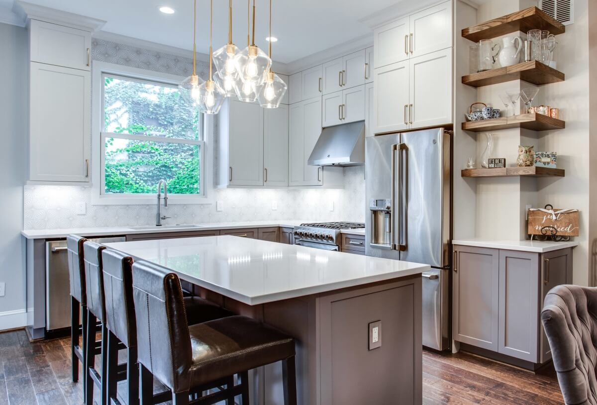 This historic home was remodeled with Dura Supreme Cabinetry's Hudson Panel door style in