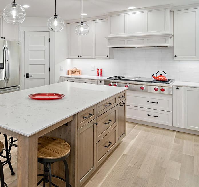 A bright kitchen featuring Dura Supreme's
