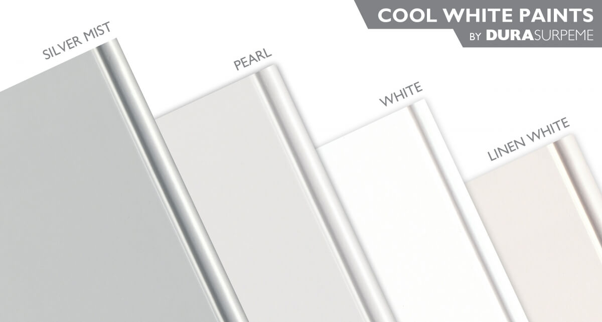 Cool White Paint Colors for kitchen & bath cabinets from Dura Supreme Cabinetry