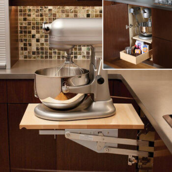 Base Swing-Up Appliance Shelf from Dura Supreme Cabinetry.