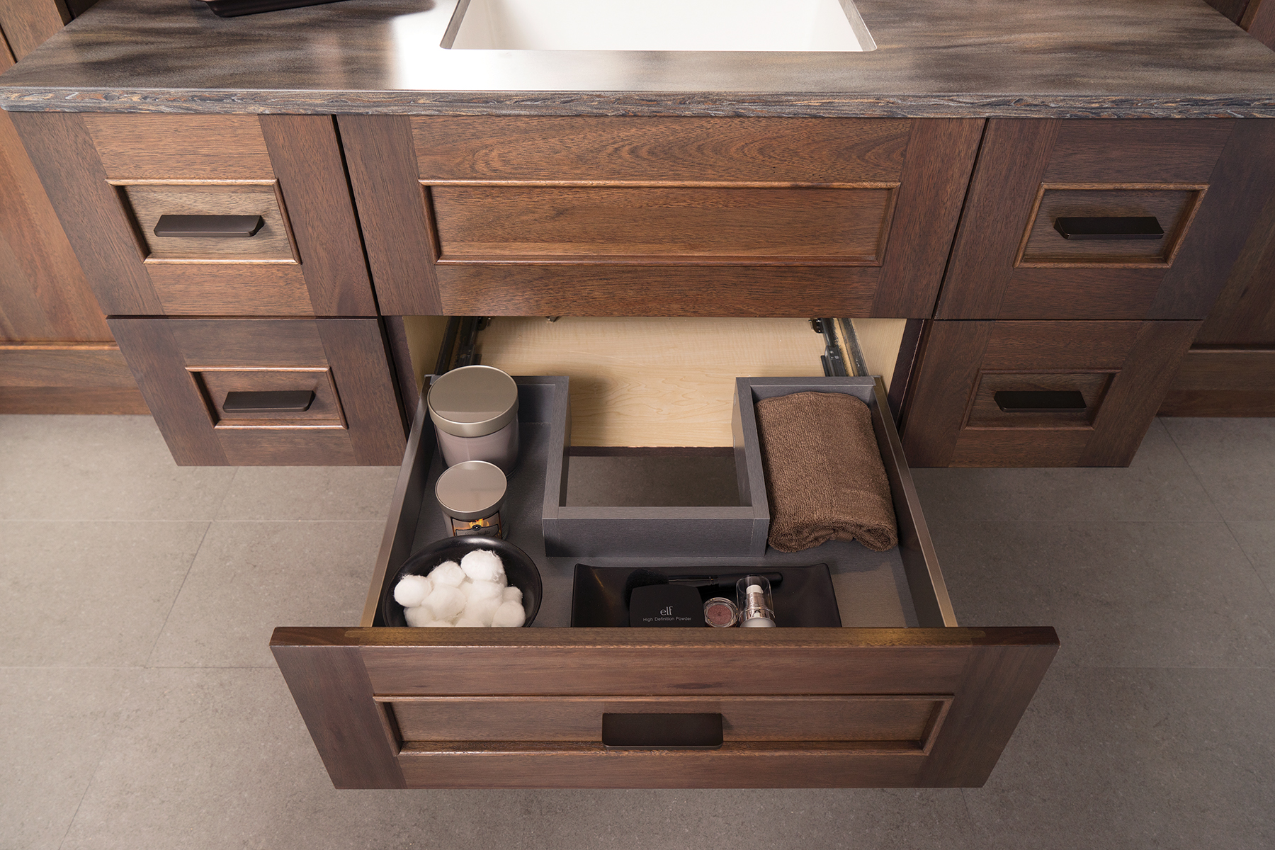 Dura Supreme Cabinetry Plumbing Drawer in Stainless Steel
