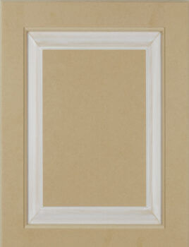 High Density Fiber Board HDF Paintable wood material for smooth surface. Shown with pre-finished panel for a luxurious painted cabinet finishes.