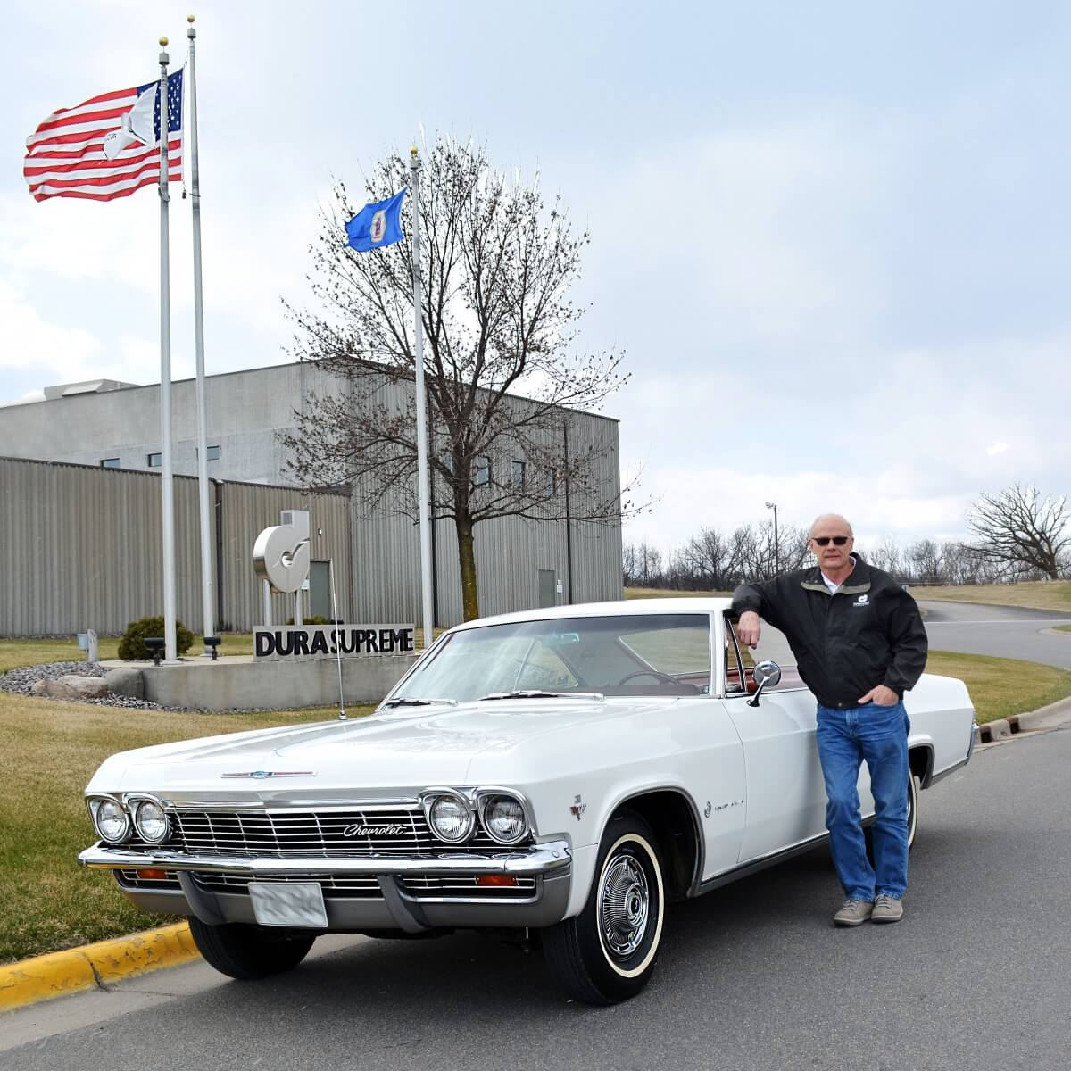 Merlyn's last day at Dura Supreme with the same car he drove to work on his first day of work in 1968.