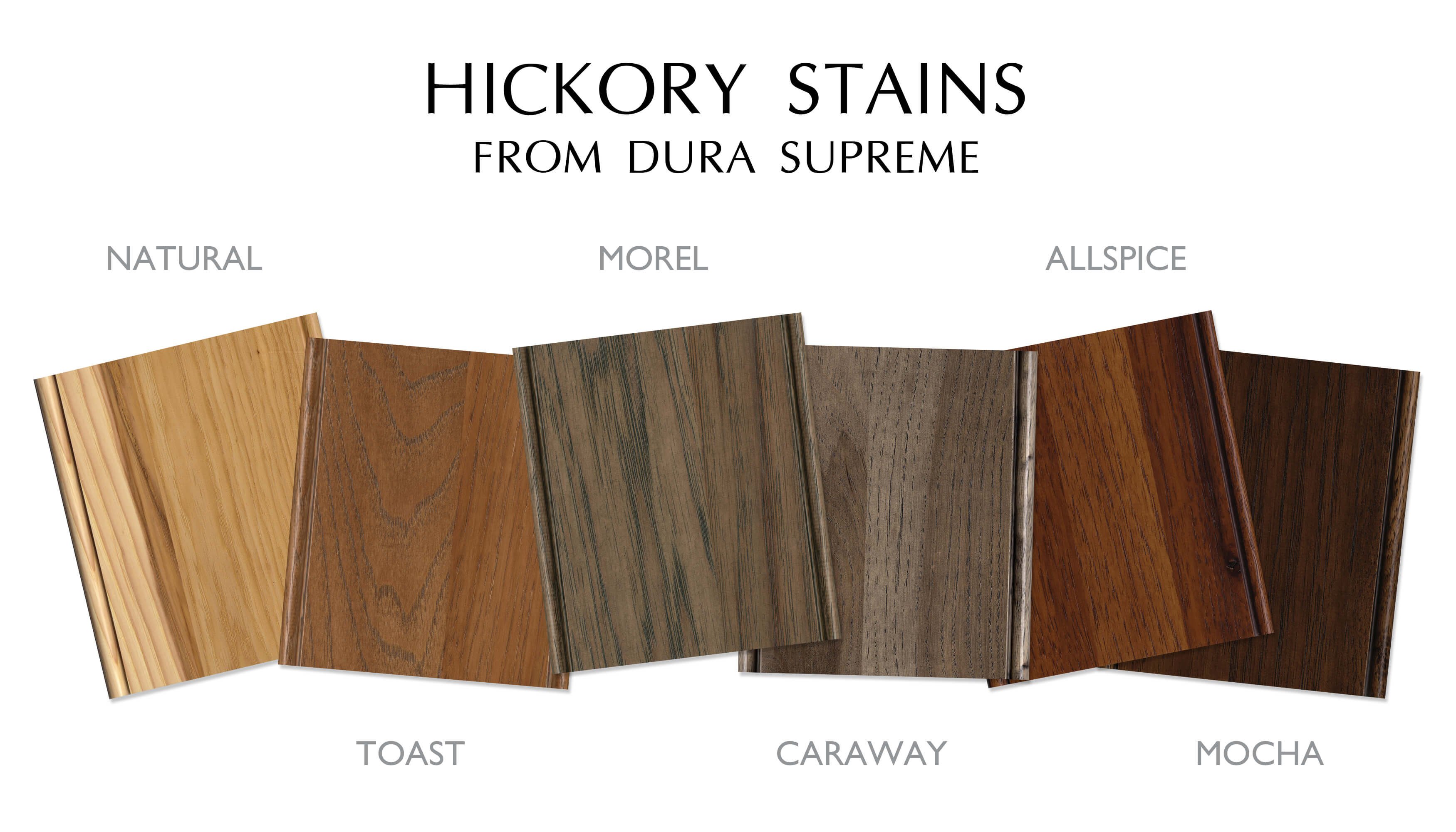 Hickory Stain Colors by Dura Supreme Cabinetry